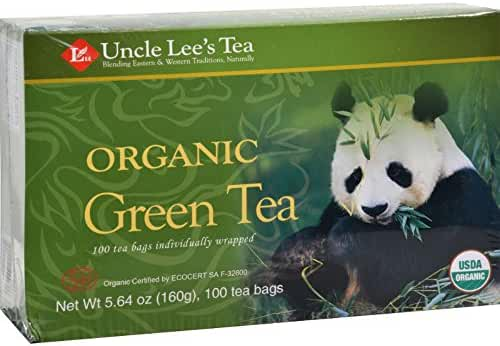 Uncle Lee's Organic Green Tea -- 100 Tea Bags net wt 5.64 oz (160g)